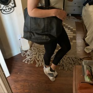 3/$20 Black h&m purse bag small overnight fauxlthr